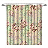 Best Creative Bath Shower Caddies - Anshesix AbstractPattern Shower curtainLittle Flower Shaped Dots Creative Review