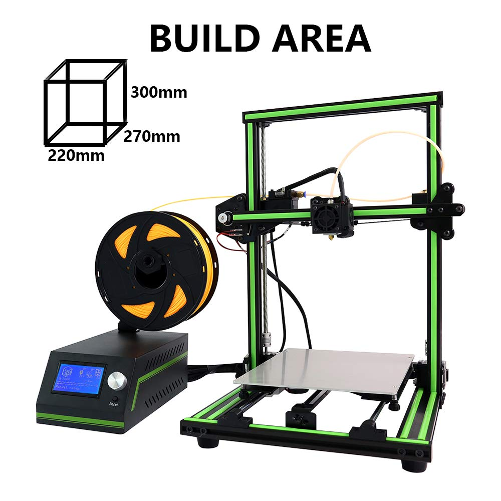 Anet E10 3D Printer Desktop Prusa I3 DIY Kit 3D Printing 300X270X220mm Support Offline Printing with Aluminum Frame, Heated Bed, Control Box, PLA, ...