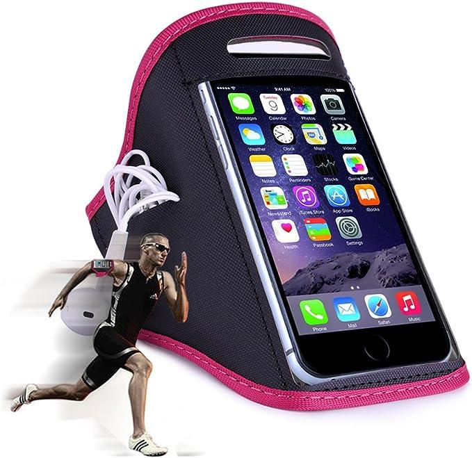 Brazalete deportivo para móviles & smartphones/Jogging de unidad y pulsera/para teléfono móvil tamaños de 152 x 73 x 7 mm hasta 158 x 77,9 X 9,6 mm/rosa Rosa rosa: Amazon.es: Deportes y