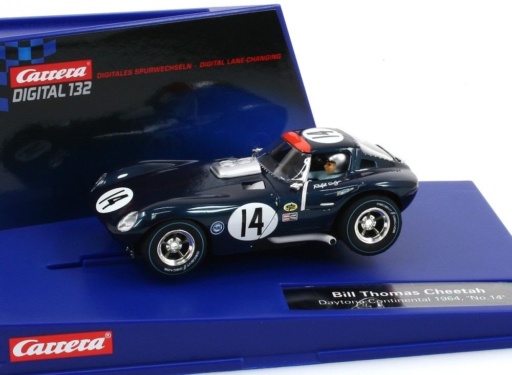Carrera Digital 132 - 20030623 - Voiture Miniature et Circuit - Bill Thomas Cheetah - Daytona 24h 1964 - No. 14 B007RZ75F4