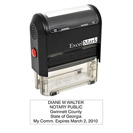 ExcelMark Self Inking Notary Stamp   Georgia