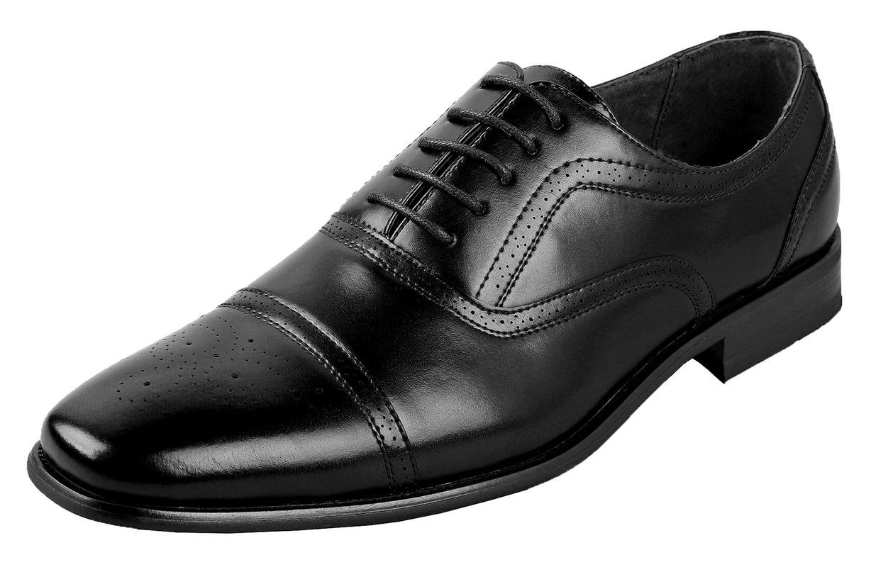 Delli Aldo Mens Wing Tip Dress Shoes | Comfortable Dress Shoes I Formal | Lace-Up | Classic Design | Black 10.5
