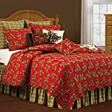 C & F Enterprises Holly Red Holiday Quilt