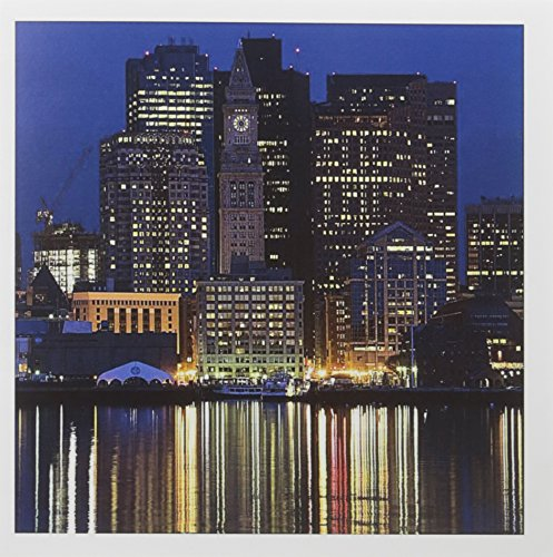 3dRose MA Boston Financial District Dawn US22 WBI0567 Walter Bibikow Greeting Cards, Set of 12 (gc_91013_2) (Custom Bostons House)