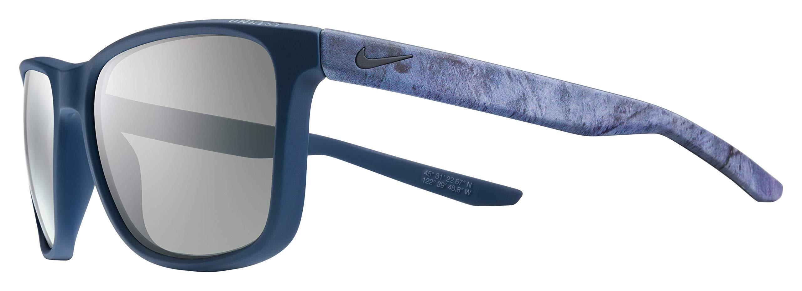 Nike Golf Men's Unrest Se Rectangular Sunglasses, Matte Squadron Blue/Deep Pewter Frame, 57 mm