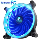 Asiahorse Solar Eclipse UAV 120mm Dual Aperture LED Long Life Case Fan,PC Custom Diy From Water Cooling System CPU Cooler(Blue)
