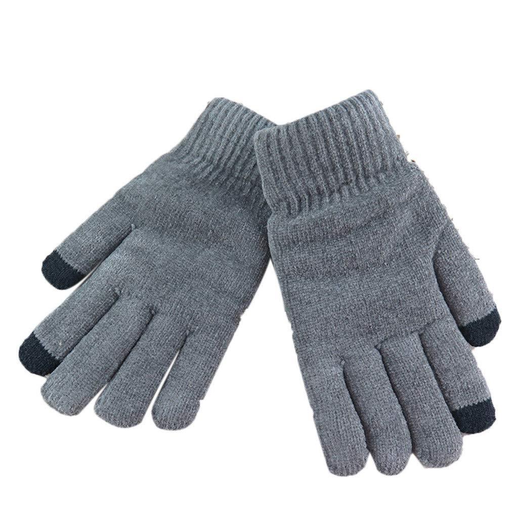 Touch Screen Knit Gloves, Screen Gloves Soft Winter Men Women Texting Cap Active Smart Phone Knit