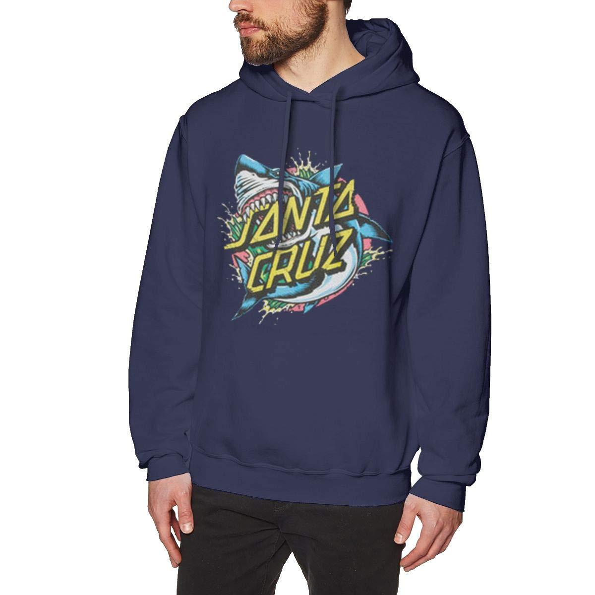 JiaoZhiduanxiu Mens Santa Cruz Classic Navy Hoodie Sweatshirt Jacket Pullover Tops
