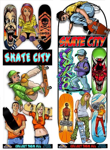 Skate City Stickers by Allstar Vending