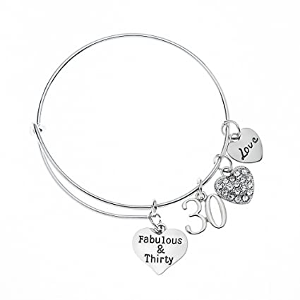 30th Birthday Charm Bracelet Women's 8aNre0gh7