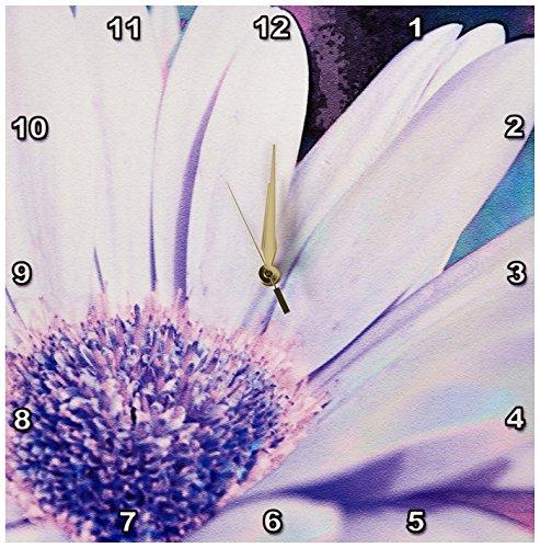 (3dRose DPP_26161_2 Purple Gerbera Daisy Floral Art Wall Clock, 13 by 13-Inch)