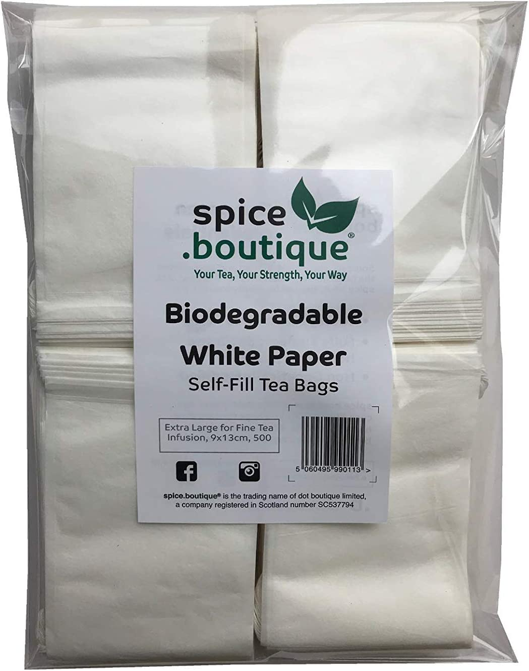 boutique, spice.boutique Bolsas de té rellenables de papel blanco ...