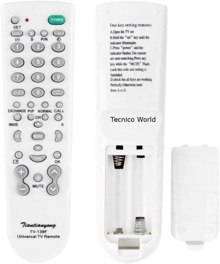 Mando a distancia remoto universal para TV Televisión Samsung Panasoinc LG Philips Sony Mando a distancia Hitachi NEC multifuncional: Amazon.es: Electrónica