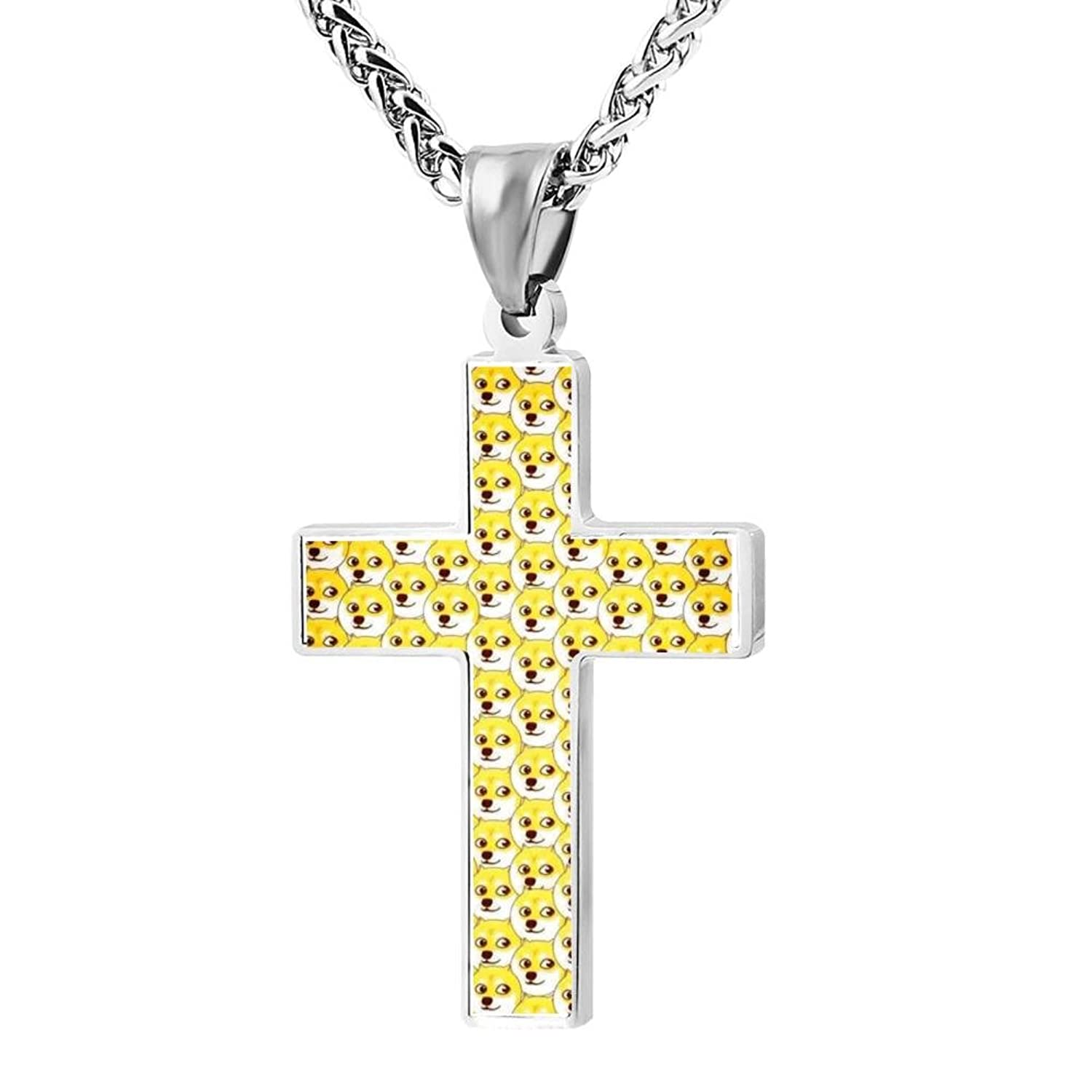 a4b1f766521c8 LUQeo Doge Christianity Crucifix Necklace Fashion Religious Jewelry ...