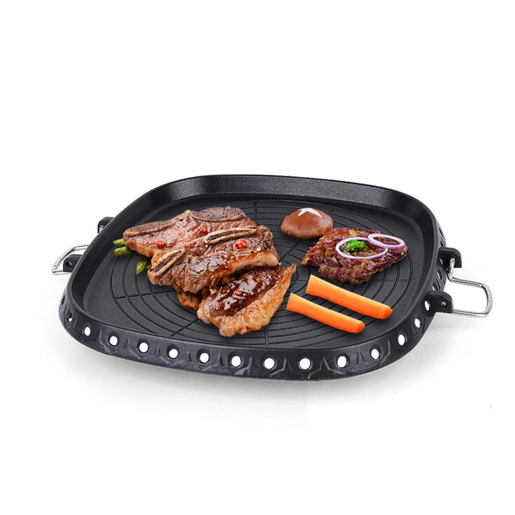 Sartén Parrilla Antiadherente para Barbacoa sin humo Tostado para BBQ al aire libre, Hacer deliciosa comida asada: Amazon.es: Hogar