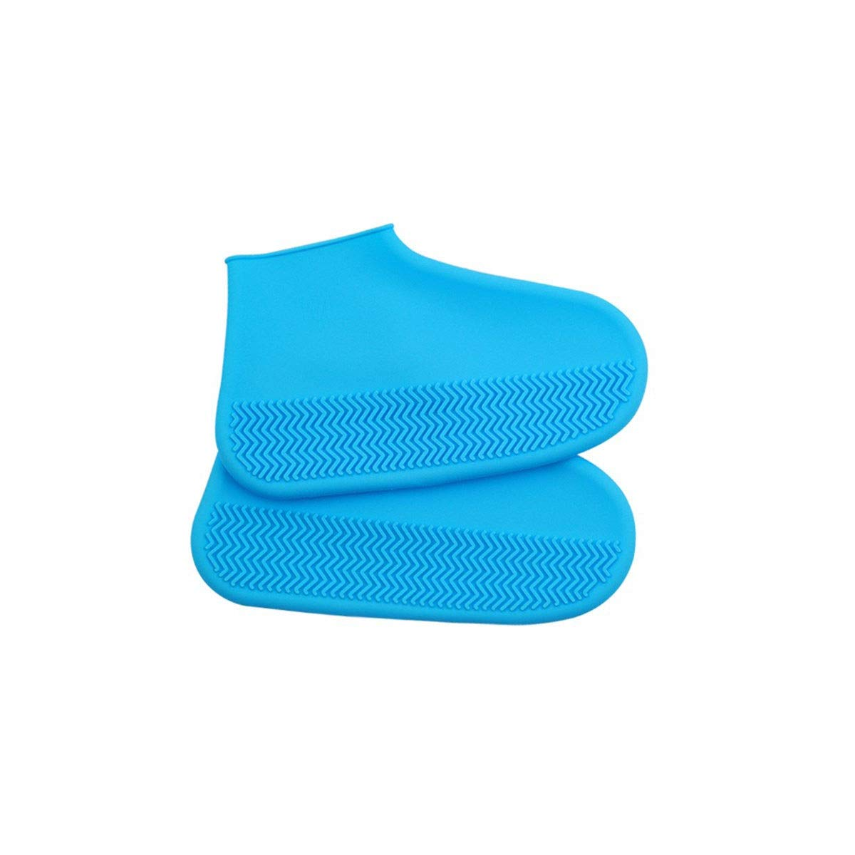 KAIYITONG Silicone Shoe Cover, Waterproof Rainy Day Thick Non-Slip wear-Resistant rain Boots, Men and Women Outdoor Rubber Latex into Multi-Purpose Shoe Covers (Color : Blue, Size : L) by KAIYITONG