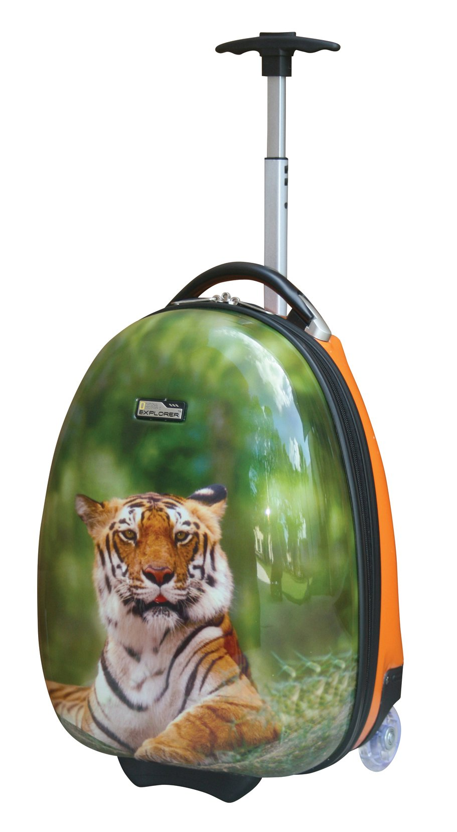 National Geographic Kid's 16 Inch Rolling Luggage, Tiger, One Size by National Geographic