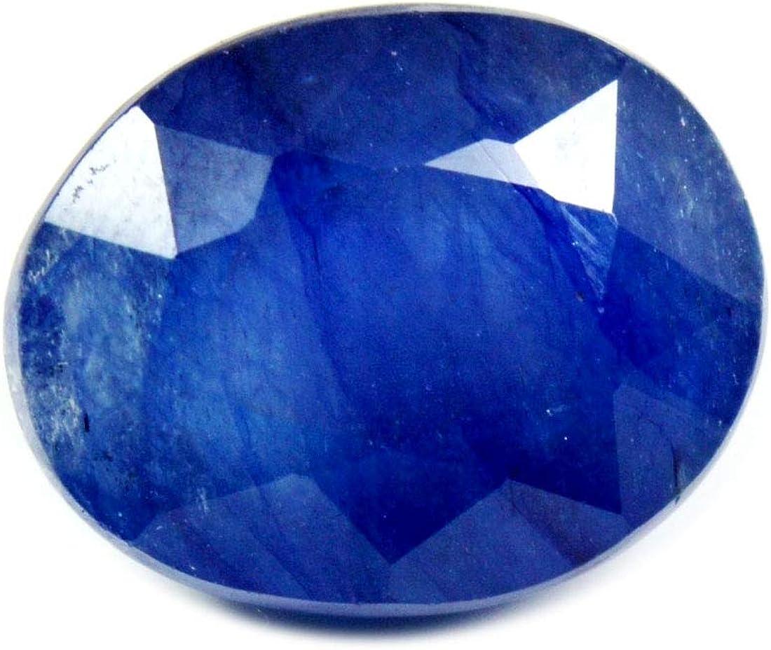 Gemsyogi 14X10 MM V/éritable Saphir Bleu Pierre Ovale Forme Facette L/âche Pierre Pr/écieuse pour La Fabrication de Bijoux