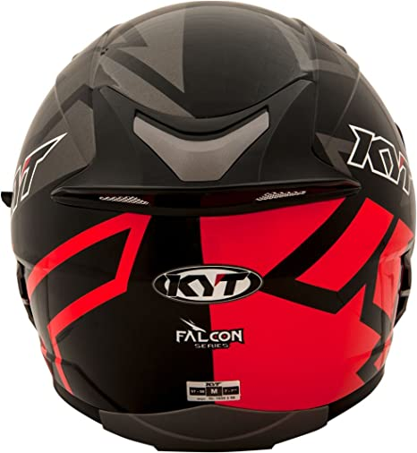 Amazon.es: KYT casco Moto Cross off-road Falcon, Faster Red, talla M 57 - 58 cm
