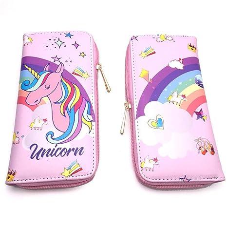Billetera Wallet Purse Anime Cartoon Pink Unicorn Largo ...