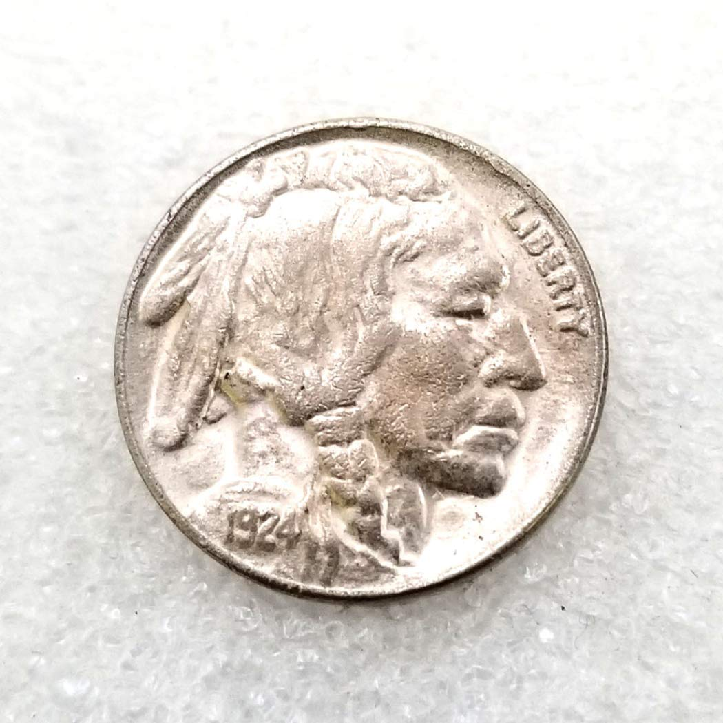 Great American Commemorative Old Coins YunBest 1924 Antique Liberty FIVE-CENTS Coin USA Uncirculated Morgan Dollars-Discover History of US Coins BestShop