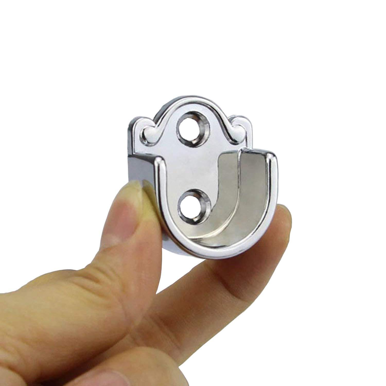 rzdeal Pack de 2/redondo armario Rail barra de acoplamiento soporte soporte Tono de plata 25/mm