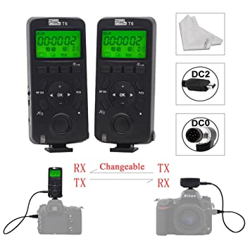 Pixel T6 Wireless Timer Shutter Remote Control LCD with