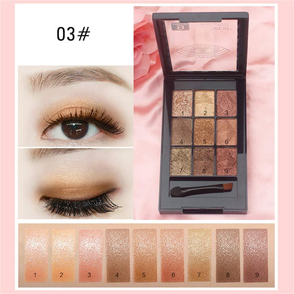 Zlolia 9 Colors Eye Shadow Disc-Fantasy Matte Shimmer Makeup Pigmented-Waterproof Long Lasting Face Body Glitter Powder