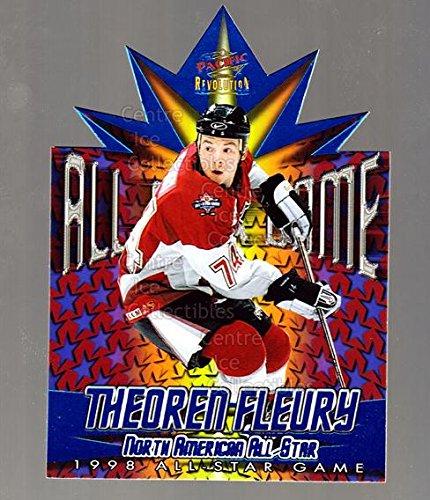 1997 Nhl All Star Game ((CI) Theo Fleury Hockey Card 1997-98 Revolution 1998 AS Game Die-Cuts 4 Theo Fleury)