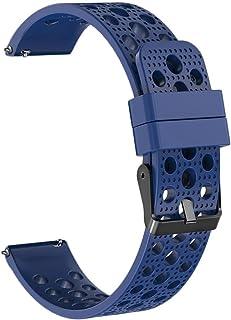 Bescitas Bracelet de Montre en Silicone Souple pour Samsung Gear S3 Frontier 22 mm