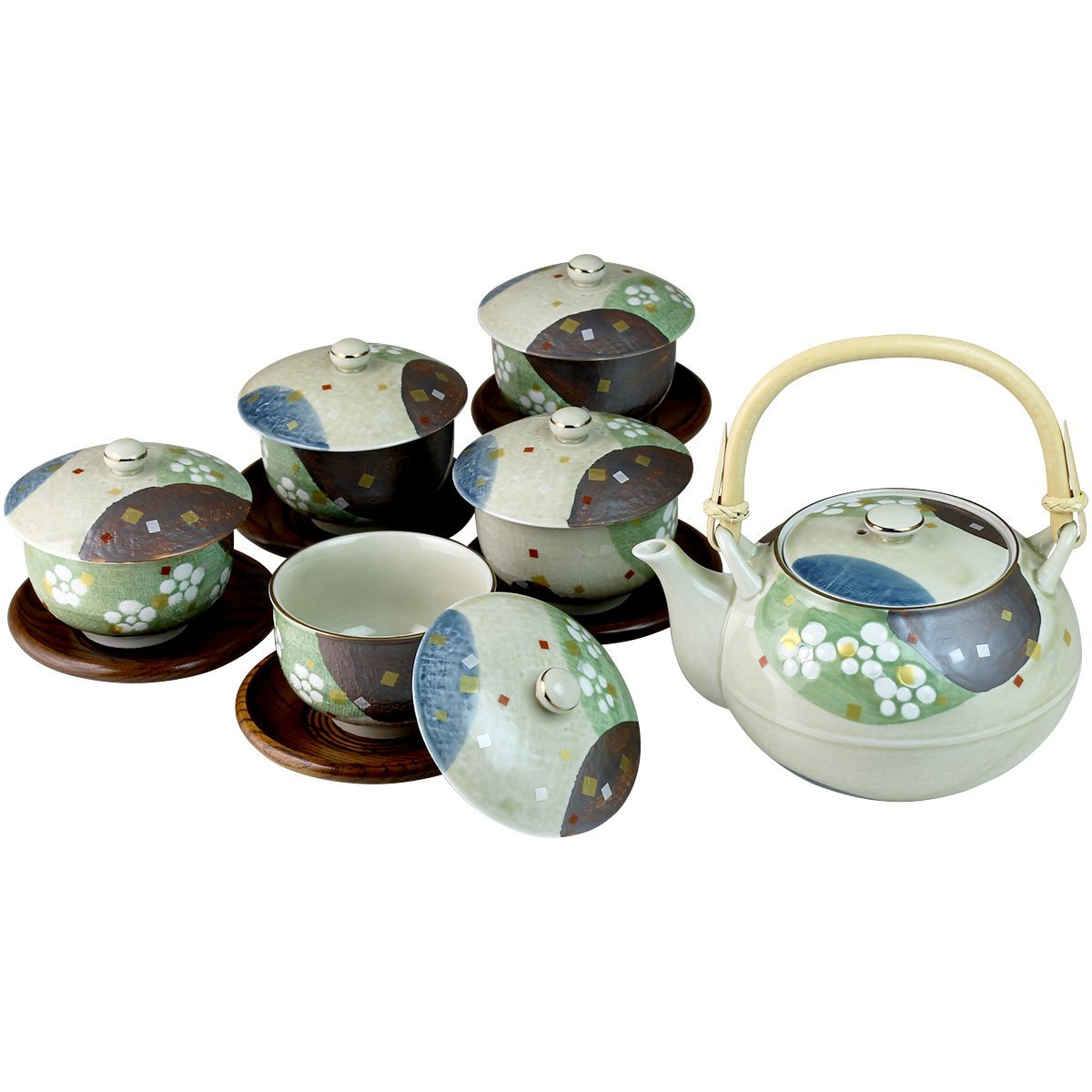 Japanese Arita ware Tea set heian(Tea Pot 1pc/Tea Cup 5pcs/Saucer 5pcs)