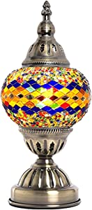Turkish Mosaic Lamp NBHUZEHUA Vintage Stained Glass Moroccan Style Little Girl Kid Room Bedroom Decor