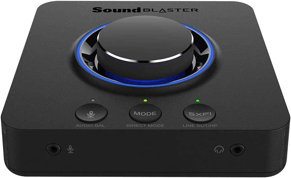CREATIVE Sound Blaster X3 Hi-Res External USB DAC and Amp Sound Card with Super X-Fi Holographic Audio, 7.1 Discrete Surround and Dolby Digital Live with Line-in and Optical-Out for PC and Mac