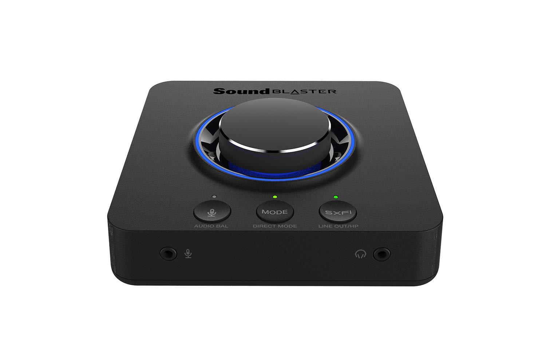 CREATIVE Tarjeta USB DAC y Amp discreta Externa Sound Blaster X3 de Alta resolución 7.1 con Super X-Fi para PC y Mac
