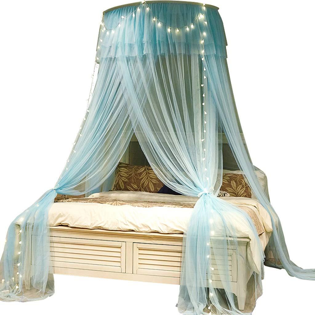GX Mückennetz Moskitonetze Verschlüsseltes verdicktes Decken-Prinzessin-Wind-Moskitonetz, hängende Kuppel-freie InsGrößetions-Ausgangs-einzelne doppelte Studentenbettwäsche