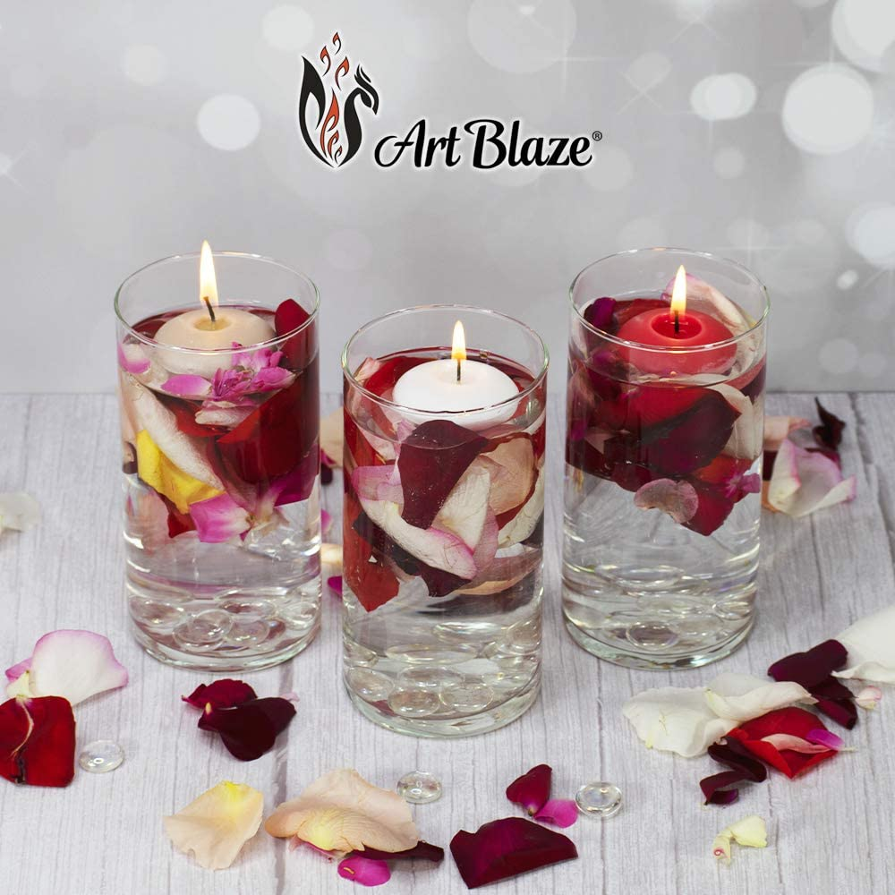 Interior Candles Pink Circle 9 Pack Unscented Valentines Day Gift ART BLAZE Floating Candles