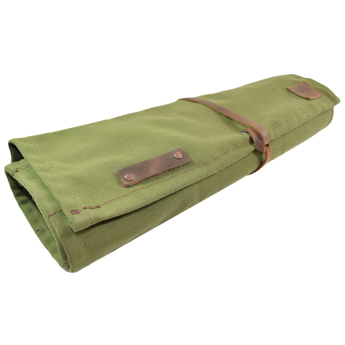 Hide & Drink Water Resistant Canvas All Purpose Knife Roll (10 Pockets) Handmade by Hide & Drink (Image #4)