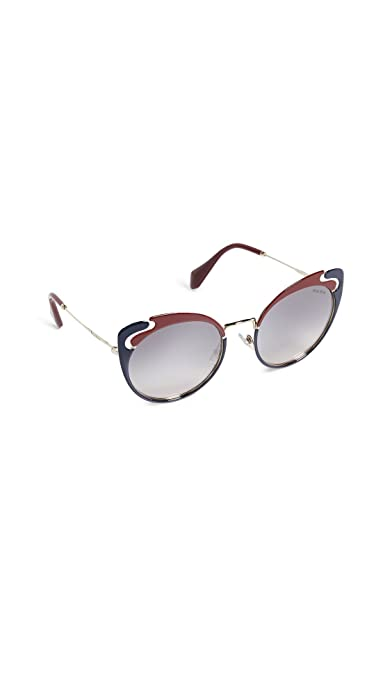 185f209c21 Miu Miu MU57TS HB5GR0 Gold Garnet Blue MU57TS Butterfly Sunglasses Lens  Cat  Amazon.co.uk  Clothing
