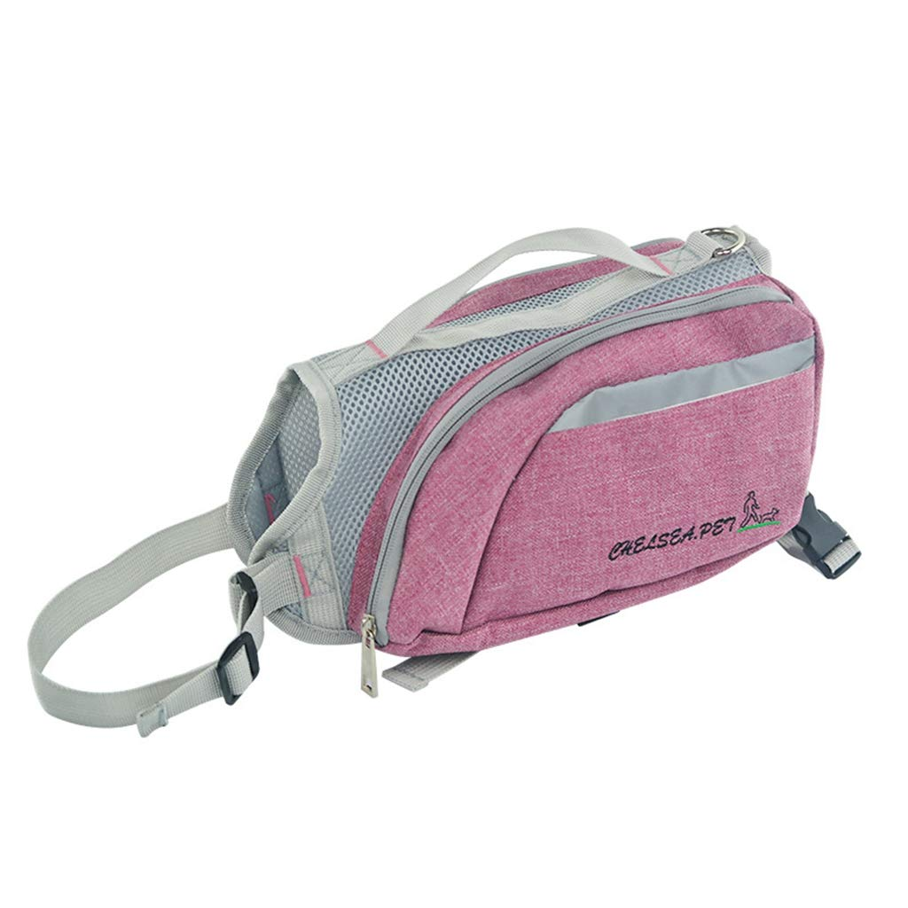 Purple Dog Backpack Dog Backpack Pet Training Pet Out Traction Bag Training Dog Pet Supplies Suitable for Bust is 65CM,Purple