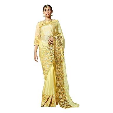 Amazon.com: Vestido de noche puro de hilo de cóctel indio ...