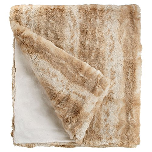 Fabulous Furs: Faux Fur Luxury Throw Blanket, Blonde Mink, Available in generous sizes 60