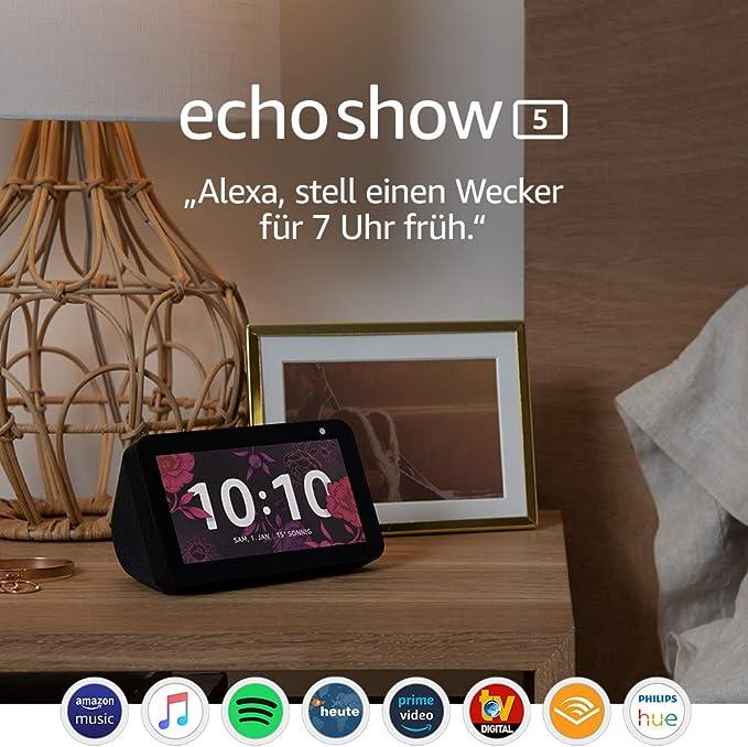 Echo Show 5 – Compact smart display with Alexa, Black: Amazon.de: Alle Produkte