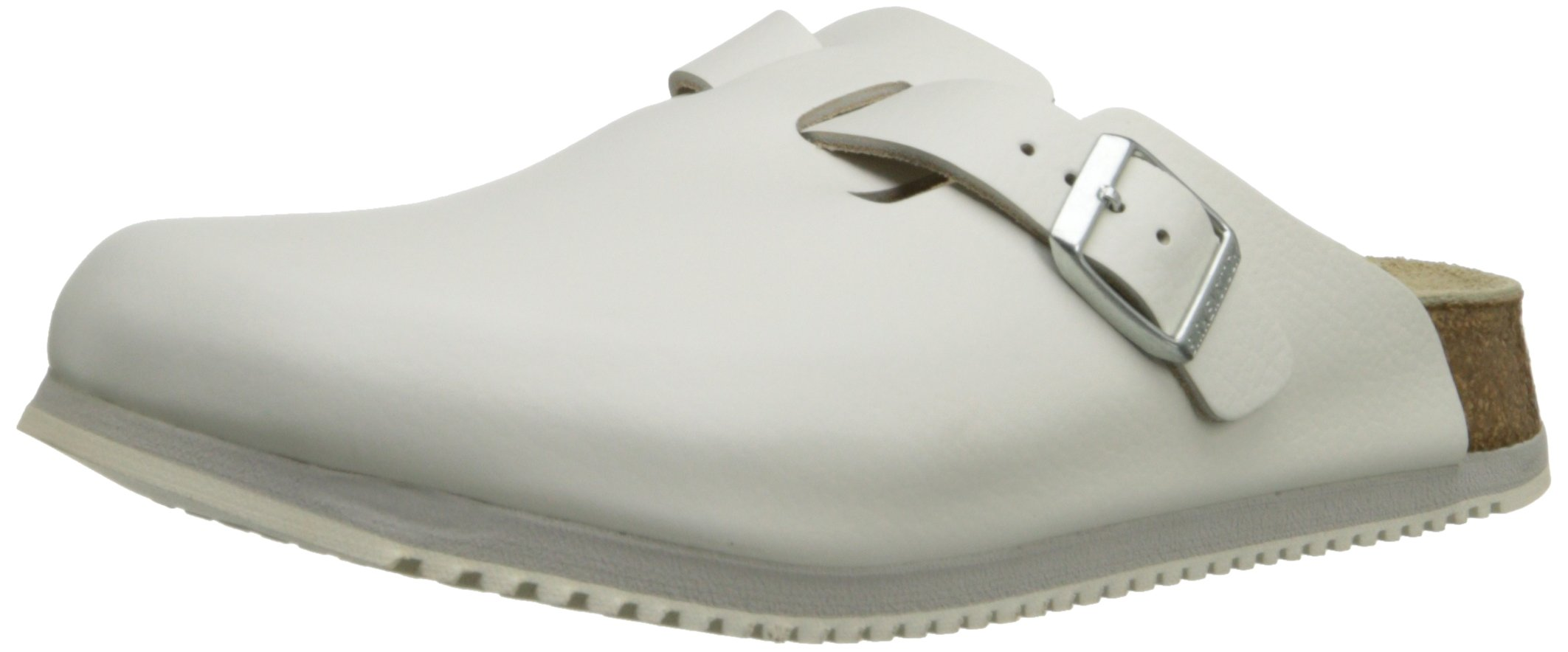 Birkenstock Unisex Professional Boston Super Grip Leather Slip Resistant Work Shoe,White,36 M EU