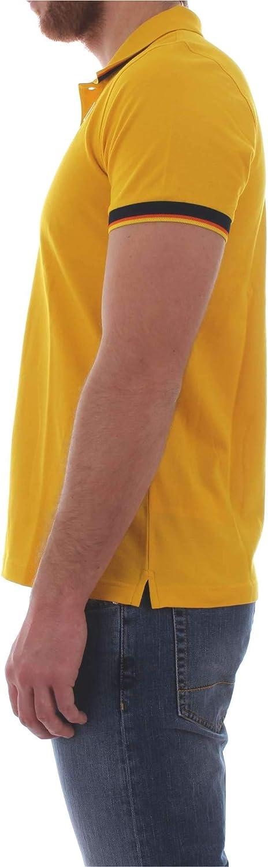 K-Way Vincent Contrast Polo Polo Shirt Yellow