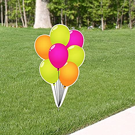 Amazon 3 Ft Poppin Pink Birthday Balloon Bunch Yard Sign