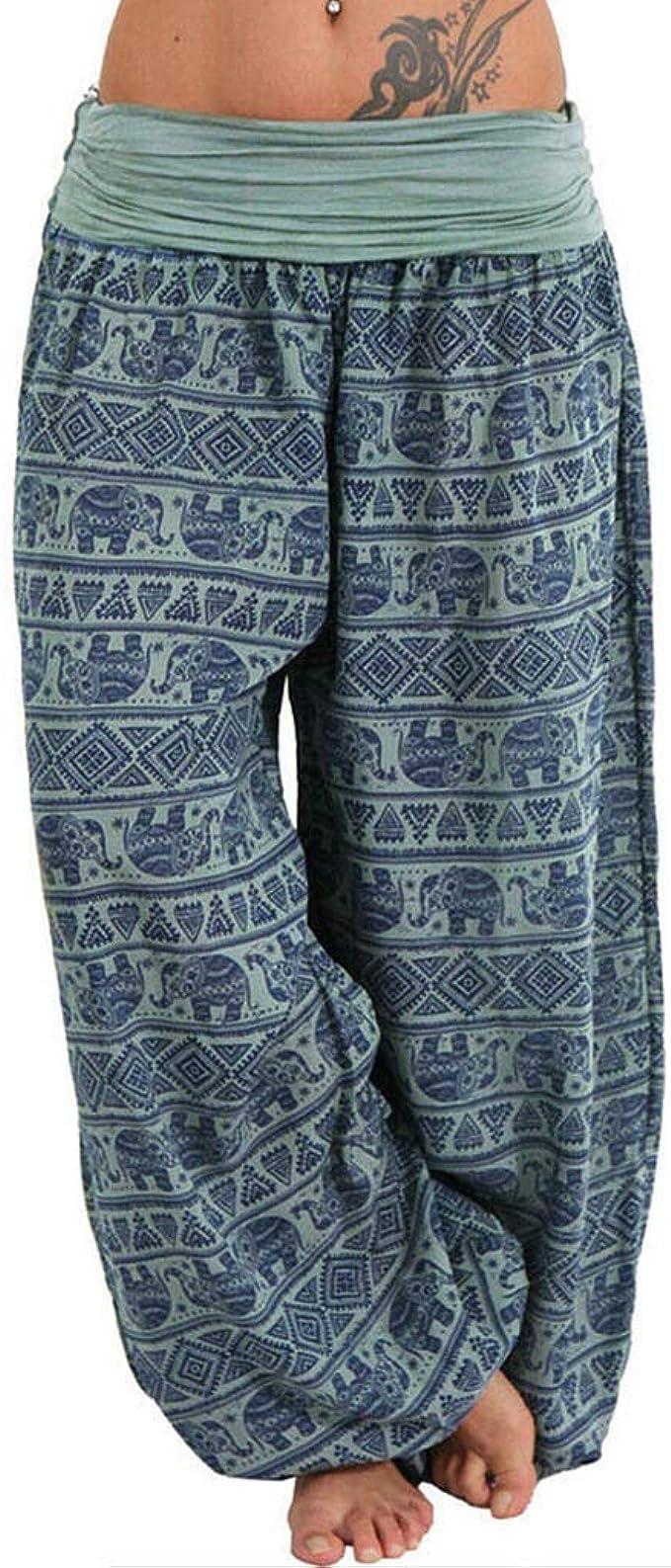 Amazon.com: LBPSUUEW Womens Yoga Harem Pants Boho Pants ...