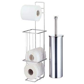 Uberlegen Chrom Freistehender Toilettenpapierhalter Mit Bürste Bad Seidenpapier  Ständer