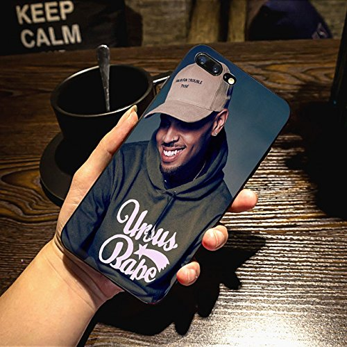 Celebrity Cases - Chris Brown iPhone 6 Plus Case Breezy Christopher Brown iPhone 6s Plus Back Cover Hip Hop Singer American Music Celebrity Artist Rapper iPhone Skin Protective Case Stylish Luxury, Slim Soft TPU, Blue