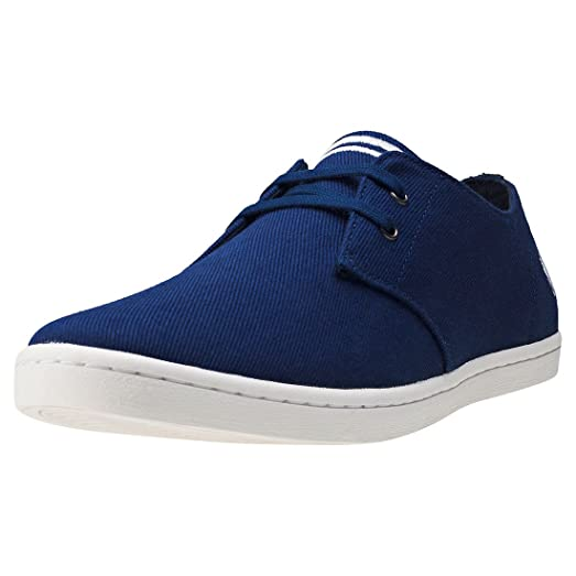 Fred Perry Menswear - Fred Perry Byron Low Twill Plimsolls Navy