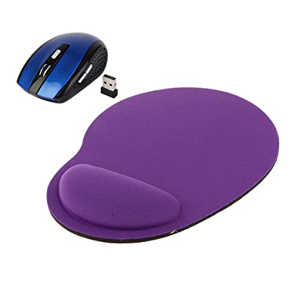 Homyl 1 Pieza Ratón Inalámbrico de Mousepad Alfombrilla de Ratón Óptico Teclados Ratones Comfort
